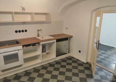Stavební práce rekonstrukce kuchyňky K.C. Opatovice