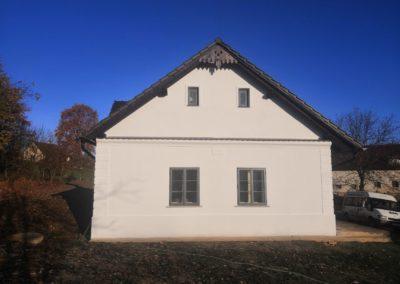 Stavební práce rekonstrukce štítu K.C. Opatovice